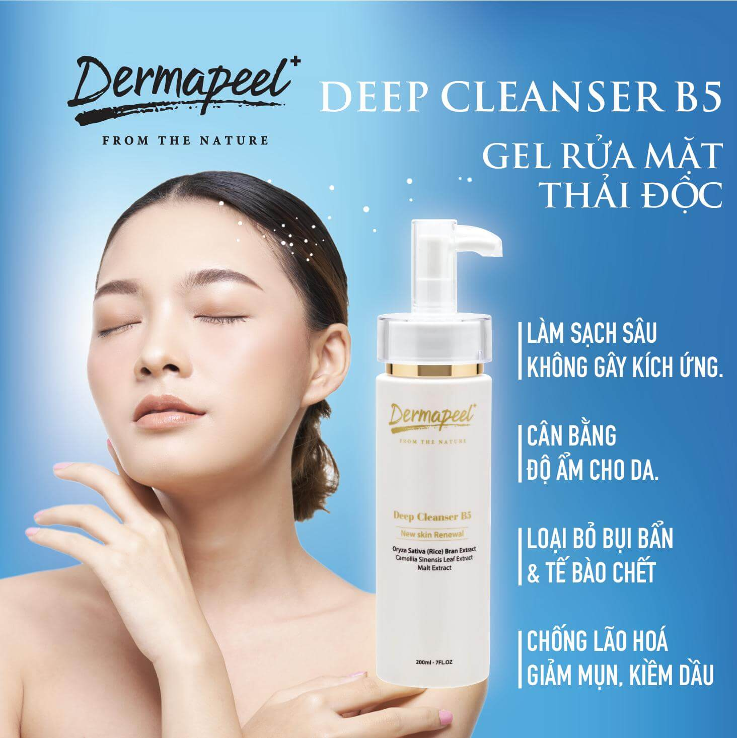 Gel rửa mặt thải độc Dermapeel