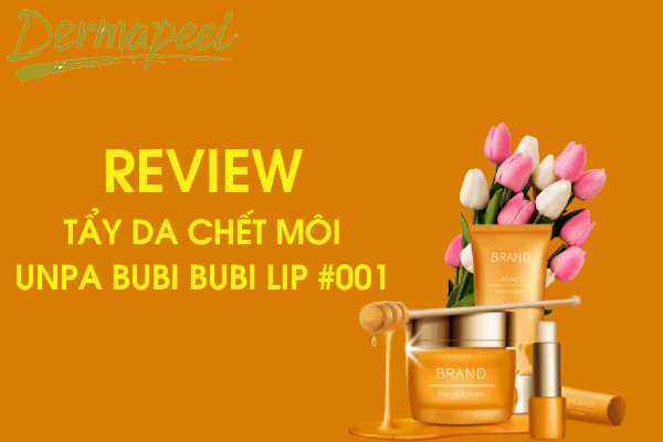 Review Tẩy da chết môi Unpa Bubi Bubi Lip #001